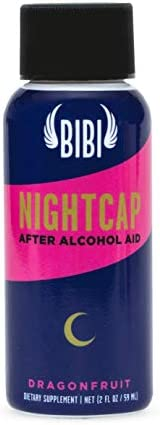 **New Item** Nightcap Alcohol Detox Shot for Hangover Prevention Liver Detox, with Dihydromyricetin DHM , Milk Thistle, NAC, Amino Acids, Vitamin B6, Vitamin B12 2 oz. Non-GMO, GF, 6 Ct.