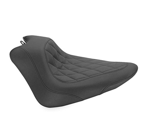 New Mustang Wide Tripper Solo Diamond Seat - 2012-2017 Harley Davidson FLS Softail Slim
