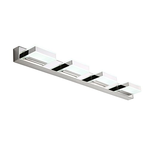 mirrea 16W Modern LED Vanity Light in 4 Lights, Cold White by mirrea