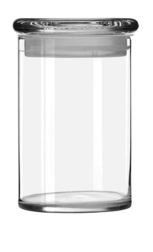 Libbey 31-Ounce Cylinder Jar with Glass Lid, Set of 6
