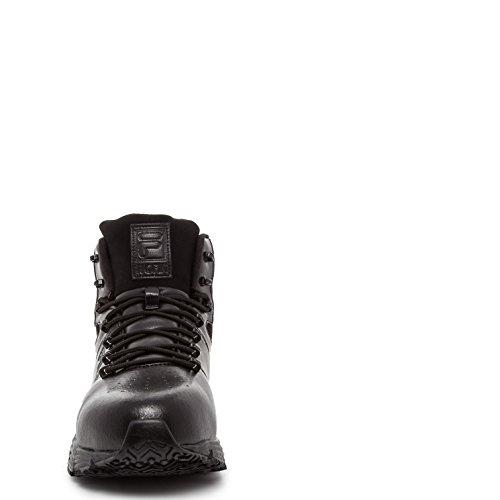 Fila Hombres Memory Breach Work Slip Resistente Zapato De Dedo Del Pie De Acero Negro, Negro, Negro