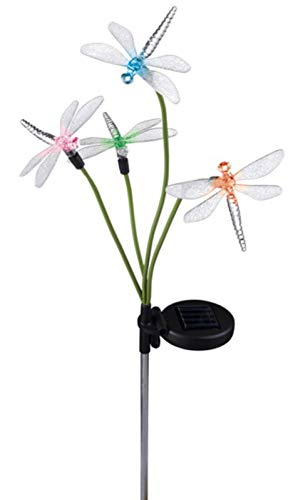 Amscan 2 Solar Power Dragonfly Sets - Color-Changing Stake One Size ()