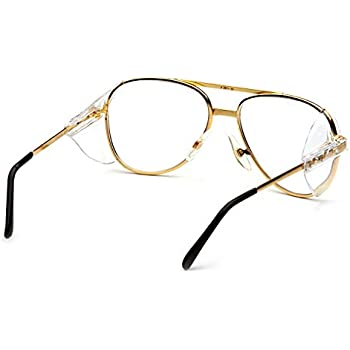 f3a989355a8c Amazon.com: Pyramex Pathfinder Aviator Safety Glasses with Gold ...