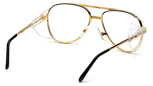 - Pathfinder Aviator Safety Glasses with Gold Frame and Clear Lens
