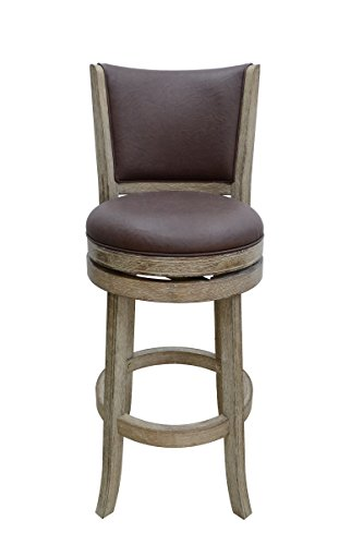Boraam 86429 Toledo Wire-Brush Swivel Stool, 29-Inch, Weathered White (Leather Furniture Sonoma)
