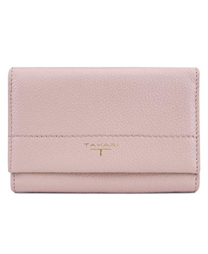 Tahari womens Flap Indexer Wallet,  Dusty Rose, One Size ()