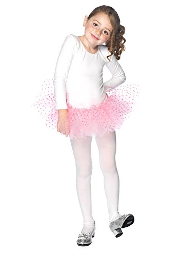 DISC0UNTST0RE Tutu Flocked Polka Dots Cld Pk Halloween Costume - 1 Size ()