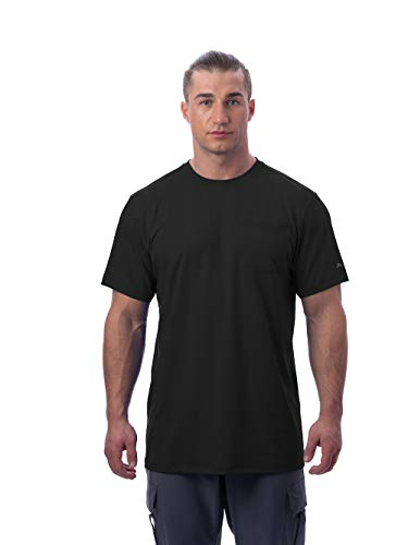 Arctic Cool Men's Instant Cooling Short Sleeve Pocket Workwear Shirt Performance Tech Breathable UPF 50+ Sun Protection Moisture Wicking Comfortable Work Quick Drying Top, Cool Black, - Pocket South Carolina