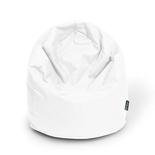 Sitzsack BuBiBag XL mit Füllung Sitzkissen Bodenkissen Kissen Sessel BeanBag (weiß)