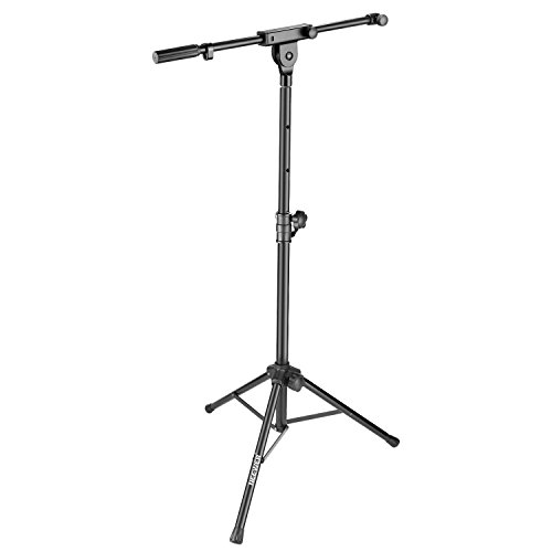 Neewer 2-in-1 Microphone Speaker Stand with Extendable Boom Arm - 51 inches/1.3 meters Adjustable Height and Solid Aluminum Alloy for Home Studio Stage Recording (Only for Neewer NW-PSM05R Speaker)