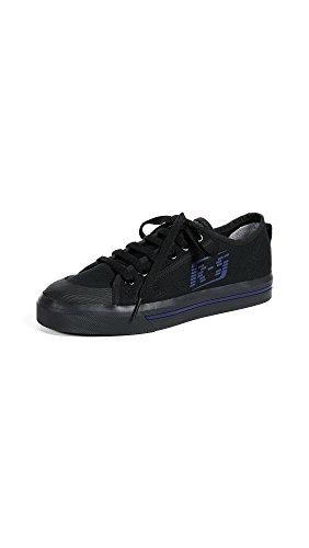 adidas Women's RAF Simons Spirit Low Sneakers, Black/Night Sky, 6.5 B(M) US
