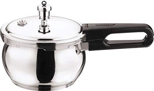 (Vinod V-1.5L Splendid Plus Handi Stainless Steel Pressure Cooker, 1.5-Liter)