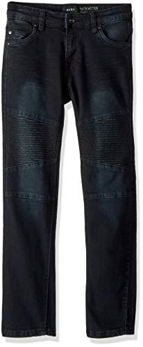 - DKNY Boys' Big Wooster Skinny Fit 5 Pocket Stretch Denim Jean, Blue/Black, 12