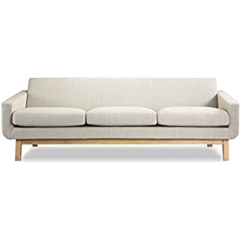 Nice Kardiel Platform Mid Century Modern Classic Sofa, Urban Hemp Vintage Twill