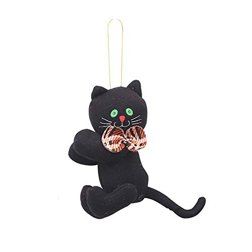 CHoppyWAVE Lovely Pumpkin Cat Ghost Doll Cloth Plush Toy Bar Club Home Halloween Decor Gift - Black Cat*