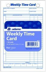 ABF9616ABF - Adams Weekly Time Card by Adams