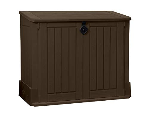 Keter 245521 Store-It-Out Woodland Outdoor Resin Storage Shed 27 cu. ft, Brown