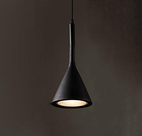 Noir  GKJ Retro Simple Imitation CiHommest Chandelier Restaurant Bar Aisle Escaliers Balcon Lampes et lanternes Single Head E14 Variété ( Couleur   Noir )