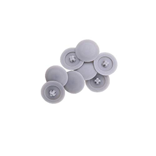 Mike Home Square-X Screw Cap Covers Decoration Tapping Screw Cover Plastic Screw Hole Covers Pack of 500 (Gray)