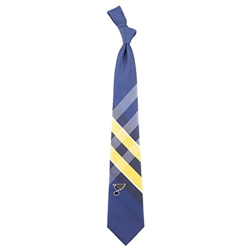 St. Louis Blues Grid Neck Tie with NHL Hockey Team Logo