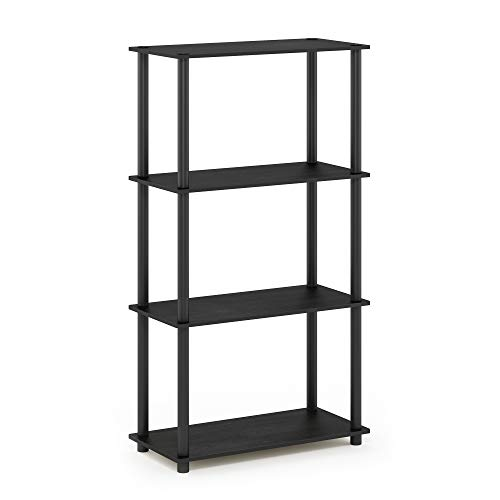 Furinno 99557AM/BK Turn-N-Tube 4-Tier Display Rack, Single, Americano/Black ()