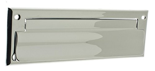 Idh by St. Simons 22111-026 Solid Brass Front Letter Mail Plate44; Polished Chrome