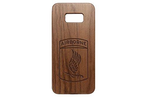 (for Samsung Galaxy S8 Plus Cherrywood Wood Phone Case NDZ Army 173rd Airborne Division Emblem)