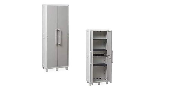 Urban Tuttopiani armario de exterior bisagras acero Tirador aluminio 65x 38x 178H: Amazon.es: Hogar