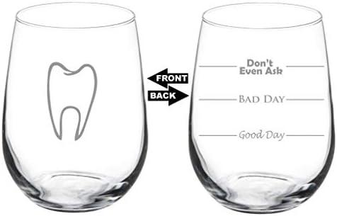 Dentist Dental Hygienist 3 Dental Stemless Wine Glasses Dental Hygiene Dental assistant.