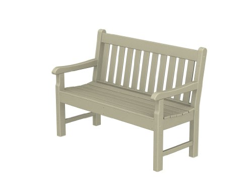 Rockford 48 inches Recycled Plastic Outdoor Bench (Adirondack 48 Inch Bench)