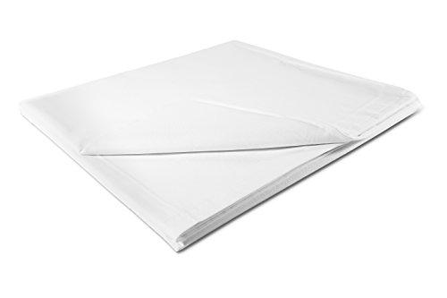 ZOLLNER® hochwertiges Betttuch / Bettlaken weiß 160x280 cm, in weiteren Größen verfügbar,ohne Gummizug, direkt vom Hotelwäschehersteller, Serie