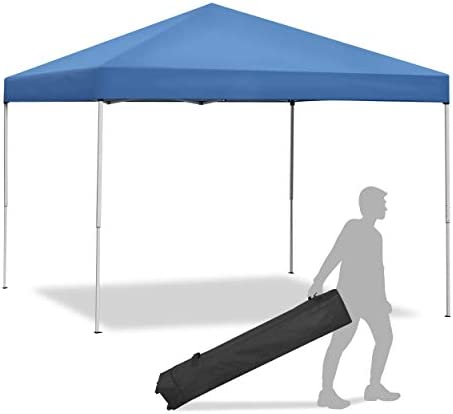 LEMY 10 x 10 FT Pop-Up Foldable Canopy Tent Pre-Assembled Lightweight Adjustable Heights Instant Waterproof Shelter