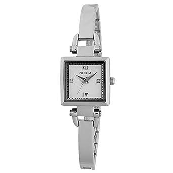Pilgrim Damen-Armbanduhr Analog Quarz Silber 701516001