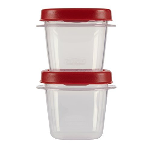 Rubbermaid Easy Find Lid Food Storage Set, 1/2 Cup, 4 Piece set (2 Cups and 2 Lids)