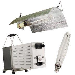 1000 Watt Ballast Switchable 120/240, Econo Wing Reflector and Ultra Sun 1000 HPS Lamp