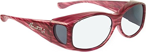 Price comparison product image Glides Overfit Plastic Radiation Lead Glasses - Designed to Be Worn Over Prescription Eyewear Frame Shapes 128mm X 40mm - Or - 5.04 X 1.57 Inches - Red Licorice