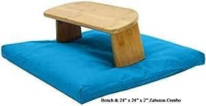 Bench + Zabuton 24x24 Set Aqua