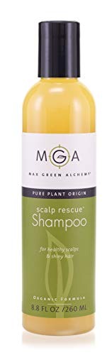 Scalp Rescue Shampoo – 8.8 Fluid Ounces - Organic Formula Hair Shampoo for All Hair Types – Unisex Nourishing Shampoo – For Dry, Normal, Colored Hair And Itchy, Oily, Dry Scalps from Max Green Alchemy