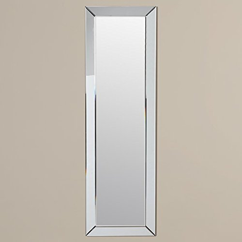 Mirror for Wall Full Length, Contemporary Rectangle Decor - Large 45'' x 13.5'' - Wood Frame Accent Mirror