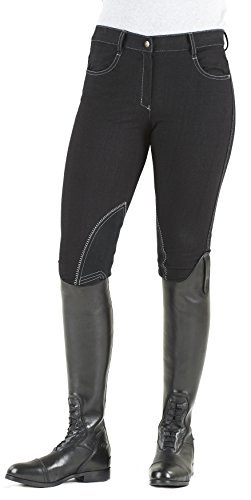 Ovation Euro Melange Knee Patch Breech 32 Black