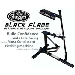 Louisville Slugger Upm 50 Black Flame Pitching Machine by Louisville Slugger