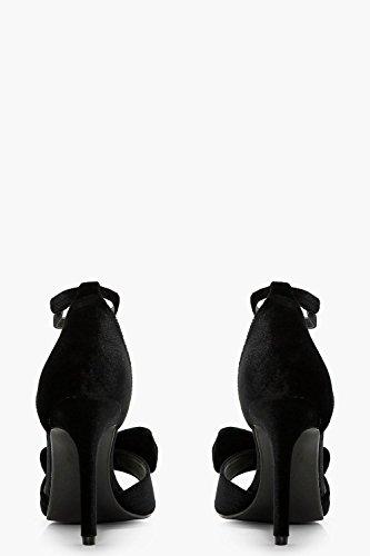 Und Damen Sandalen Mit Absatz Schwarz Schwarz Schleife Zweiteilige Libby wwq1P7R