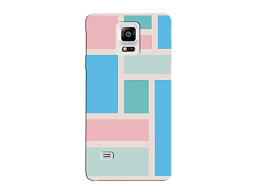 Notes Pastel Notes - Pink Squares And Rectangle Pastel Pattern Phone Printed Hard Plastic Phone Case For Samsung Note 5