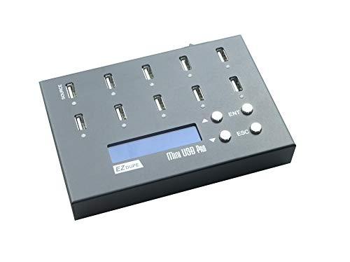 EZ DUPE 1 to 9 Mini USB Pro Duplicator Standalone USB Flash Drive and USB Hard Drive Duplicator Copier Eraser