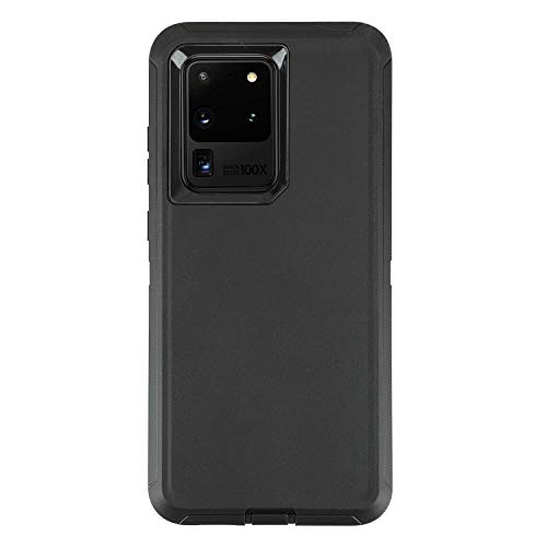 smartelf for Galaxy S20 Ultra Case,Shockproof Full Body Heavy Duty Case, Rugged Cover Drop-Proof Protective Tough Shell for Samsung Galaxy S20 Ultra 5G-Black