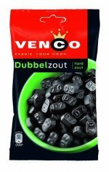 Venco Dubbel Zout DZ (Double Salt) Dutch Black Licorice 173 g 6.1 oz