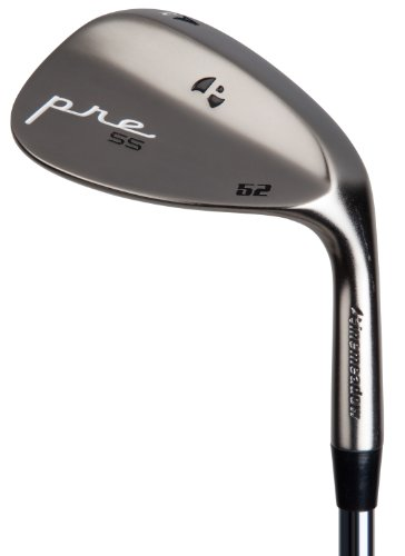 Pinemeadow Golf Pre Nickel Wedge, Left Hand, Steel, Regular, 56-Degree