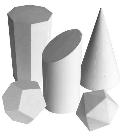 Torino Art Studio Teaching and Drawing Aid Sculpture Set of 5 Shapes #2 set from Torino