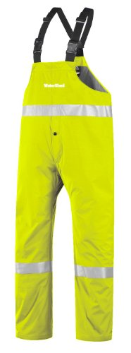 """WaterShed 950AE011Z-LM-SML StormShield Snap Fly Waterproof GORE-TEX Bib Overall with 12"""" Leg Zippers, Small, Lime Green"""