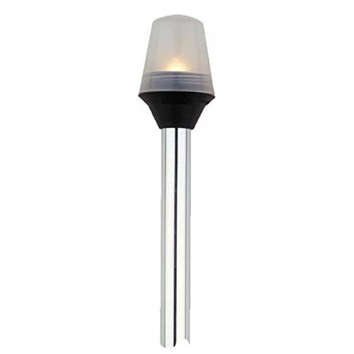 attwood 5100-54-1 All-Around Frosted Globe Light with 2-Pin Standard Pole - 54''